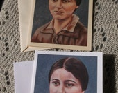Saint Theresa Benedicta of the Cross, Edith Stein, Stationary Cards with Envelopes White and Ivory Card Stock taken from my Acrlyic Painting