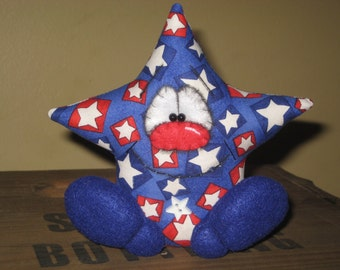 Primitive Handcrafted Americana Star Miss Liberty Doll Shelf Sitter Bowl Filler Ornie Tuck Ornament
