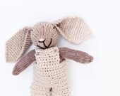 Toy bunny, gender neutral baby, crochet bunny toy, bunny baby toy, knitted bunny prop, knitted toys, photography prop, easter bunny toy