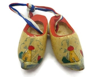 Dutch Wooden Shoe Charms - Hand Painted