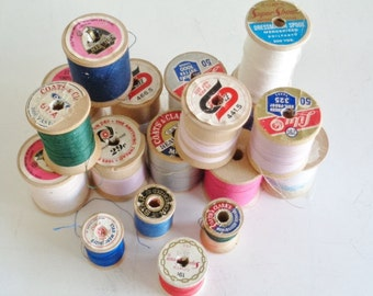 Vintage Wood Thread Spools