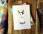 SALE: Hello, pal friend cute kitten card cc103