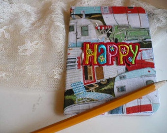 Happy Camper Gift, Happy Camper Decor, Camping Gift, Camping Decor, Notebook