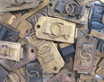 5 Antique brass photo album latches found object for your assemblage art mixed media  no 15