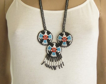 Vintage Native American Beaded Necklace