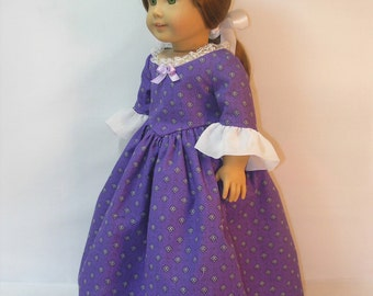 18 Inch Doll Clothes Colonial Dress fits American Girl Doll Felicity or Elizabeth 1774-1064