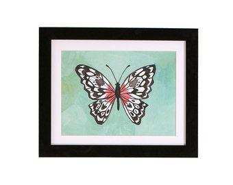 Greendale Butterfly Print   5x7