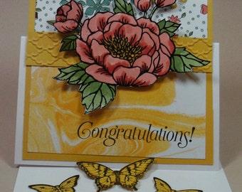 "Handmade Stampin Up ""Congratulations""  card"