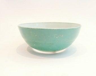 Mint Blue Duralex Bowl // Large Mid-Century 1950's Salad Bowl // Vintage Home Decor