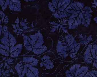 NEW - Fat Quarter - Blue Leaf Batik - IS14T-HH1