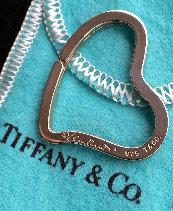 Tiffany Heart Bracelet >> Tiffany Keychain Elsa Peretti sterling silver key chain