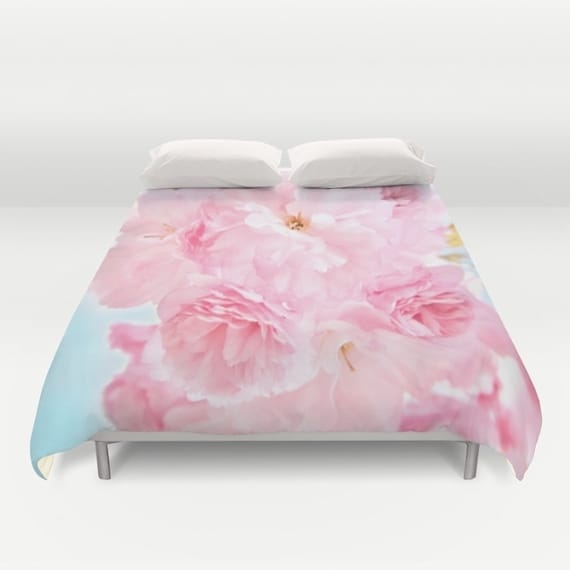 Peony Duvet Cover, Peony Bedding, Flower bedding, Pink, Nature Comforter Cover, Beach, Summer, Flower Duvet Cover, Twin, Full, Queen, King
