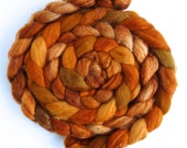Pre-Order Colorway, Finn Wool Roving - Hand Painted Spinning or Felting Fiber, Golden Beauty