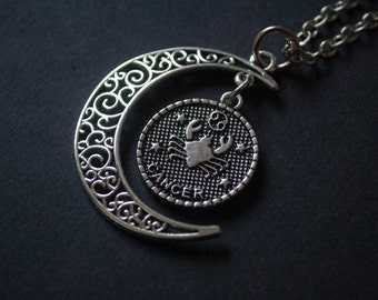 Astrology Cancer moon necklace