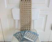 Vintage Bingo Cards Blue Ephemera Paper Game Numbers