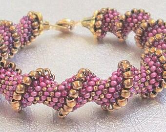 rose beaded bracelet spiral bead jewelry cellini cuff