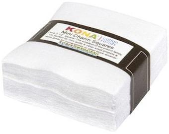 KONA 100% Cotton Mini White Squares-84 pieces