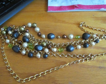 long drape pearl necklace