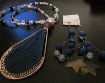 beaded blue set