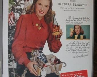 213 Royal Crown Cola Ad  - 1947