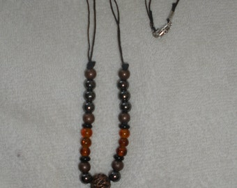 Paua shell and copper beads