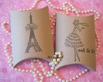 10 Gift Boxes, Paris Party Favors, Paris Theme Party, Eiffel Tower, Paris, French Girl Ooh La La, Kraft Boxes, Paris Party Favors 4.5x4.5x1