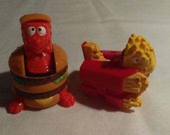 McDonald's Big Mac and Fries Transformer 1990