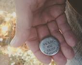 Hand Stamped Pocket Token Reminder I Love You Coin - Large Circle love token, pocket token, reminder token, daddy token, boy gift, wedding