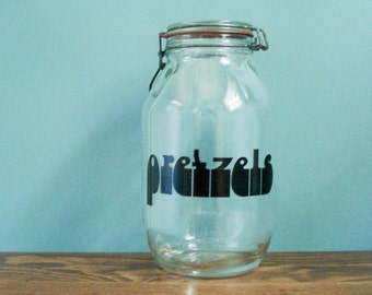 Quite possibly the world's largest pretzel jar - amazing typography