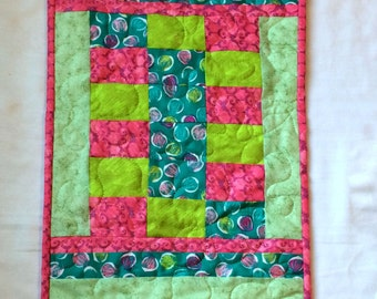 Modern  Spring or Summer Quilted Table Runner, Table Topper - Quiltsy Handmade