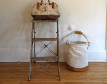 Industrial Metal Two Step Work Ladder