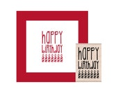 NEW for 2016 Happy Birthday Candles Rubber Stamp