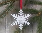 Personalized Snowflake Ornament First Christmas Together Custom Snowflake Ornament  - Free Shipping USA