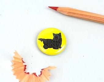 Skye Terrier Button Badge