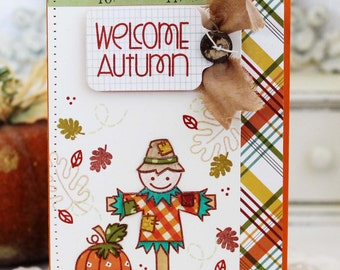 Welcome Autumn...Handmade Card