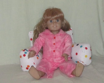 Study Pillow for 15 to 18 inch Dolls American Girl Cabbage Patch Kids Teddy Bears Sock Monkeys