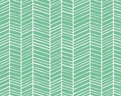 Joel Dewberry Fabric by the Yard - True Colors - Herringbone in Turquoise - Quilter's Cotton