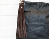 "10"", recycled brown suede tassel, leather, leather fringe, keychain, bag charm, upcycled, fringe, hook, handmade, wholesale, stacylynnc"