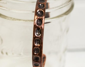 medium recycled copper cuff, copper jewelry, copper, metal, recycled, hammered metal, hammered copper,  bracelet, stacylynnc, handmade