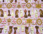 Lolita Harajuku Print Chess and Roses print  100  cm by 106  cm or 39 by 42 inches One meter
