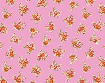 Two (2) Yards - Riley Blake Milk, Sugar & Flower Rose Cotton Fabric C4342-Pink