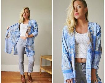 1990s Abstract Kimono Jacket >>> Extra Small to Medium