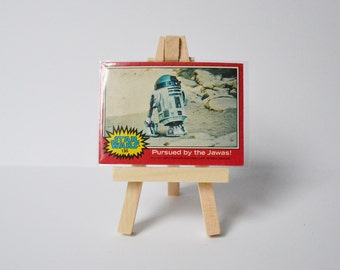 Star Wars Trading Card with Display Stand Geekery Movie Collectibles R2D2 1977 Original Movie Display