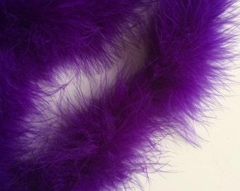 MARABOU Feather Boa /  Violet Purple  / BOA - 002