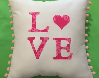 New Made To Order custom LOVE Pillow made with Your Choice of over 30 new AUTHENTIC Lilly Pulitzer fabrics