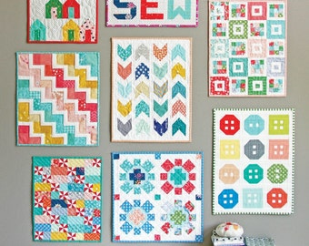 Clearance PATTERNS 8 patterns in one MINI QUILTS by Cluck Cluck Sew