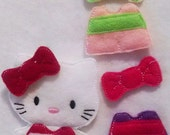 Kitty unpaper doll, felt doll, Quiet Game, felt gamel, Birthday Favor, Felt Favor, Children's Toy #1524