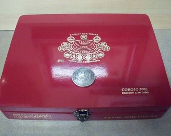 Cigar Box Jewelry Box, Men's Valet Box, Groomsmen Box, Keepsake Box, Stash Box, A Flores Cigar Box Item 330