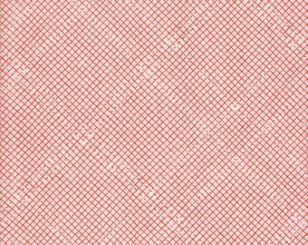 Robert Kaufman Carolyn Friedlander Euclid Essex Linen/Cotton Check It in Tangerine  - Half Yard