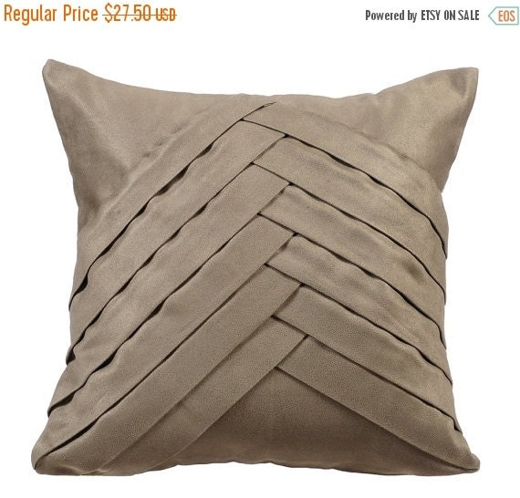 No Throw Pillows On The Bed Song : ON SALE 10% Stone Grey Throw Pillows for Bed by TheHomeCentric